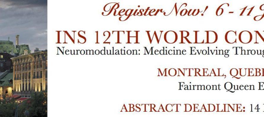 INS 12th World Congress: 6-11 June 2015