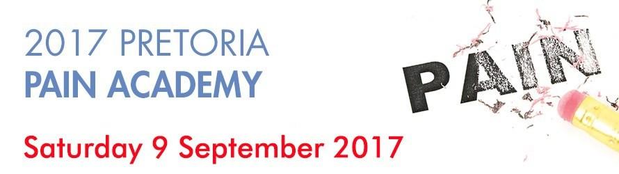2017 Pretoria Pain Academy, 9th September 2017 5