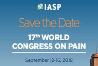 17th World Congress on Pain, 12-16th September