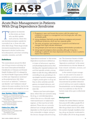 Acute Pain Management in Patients With Drug Dependence Syndrome 3