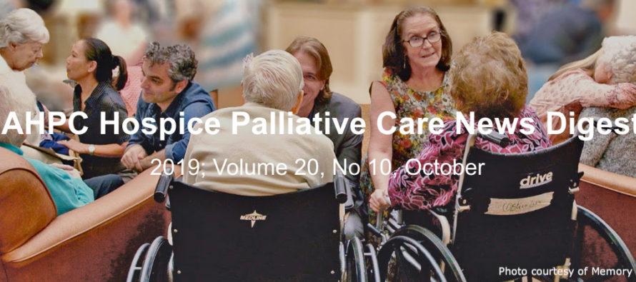 IAHPC Hospice Palliative Care News Digest, October 2019